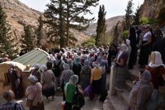 Молебен с кресным ходом у гробницы прп. Харитона Исповедника