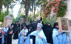 Монастырь Марии Магдалины. Праздник иконе Богородицы Одигитрия. Крестный ход.