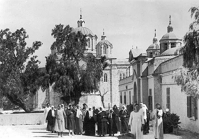 Русские паломницы в Иерусалиме