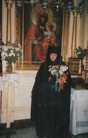 Матушка Моисея в день возведения в сан игумении. Елеон, 1997 год